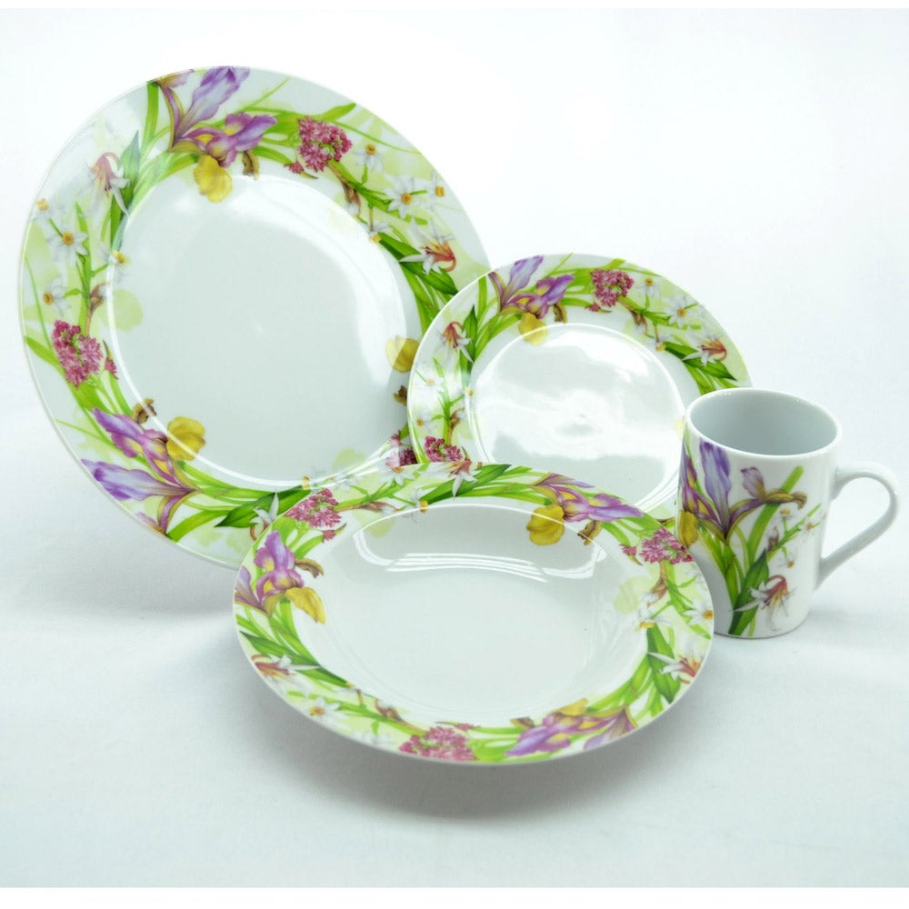Three Star Purple Orchids 16-piece Dinnerware Set