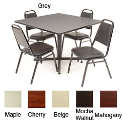 Regency Seating 42-inch Square Table with 4 Chairs