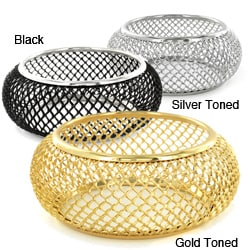 Metal Mesh Domed Bangle Bracelet