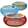 West Coast Jewelry Metal Mesh Domed Bangle Bracelet
