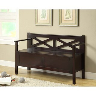 Cappuccino Solid Wood Bench With Storage