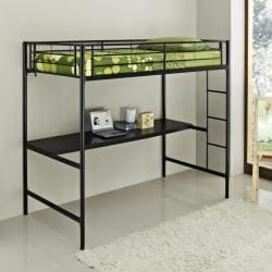 Twin/ Workstation Black Bunk Bed