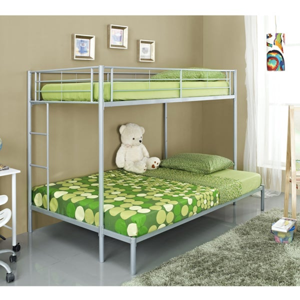 Twin/ Double Silver Bunk Bed