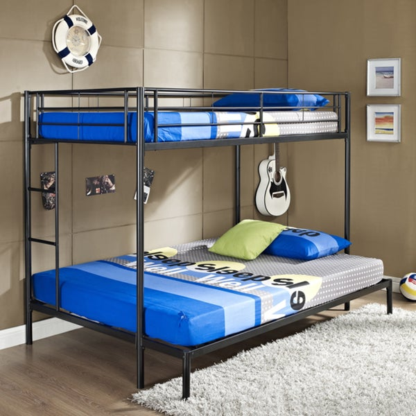 Twin/ Double Black Bunk Bed