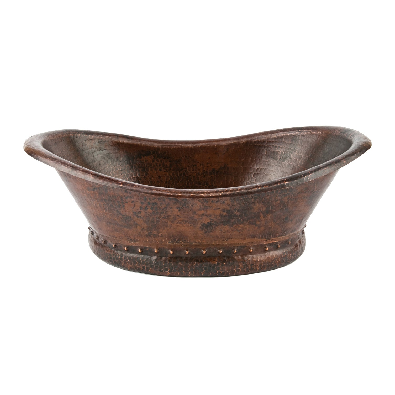 Premier Copper Products Bath Tub Vessel Hammered Copper Sink