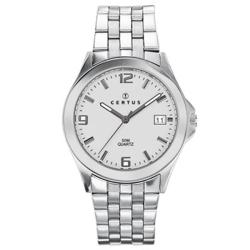 Certus Paris Men's White Dial Stainless Steel Quartz Date Watch