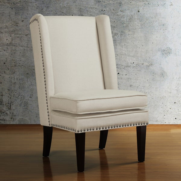 Wing Natural Linen Dining Chair