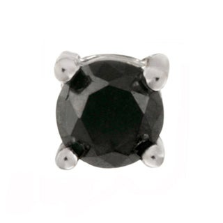 DB Designs Sterling Silver Black Diamond Single Stud Earring