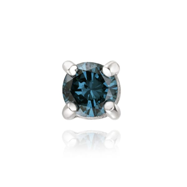 DB Designs Sterling Silver Blue Diamond Accent Single Stud Earring
