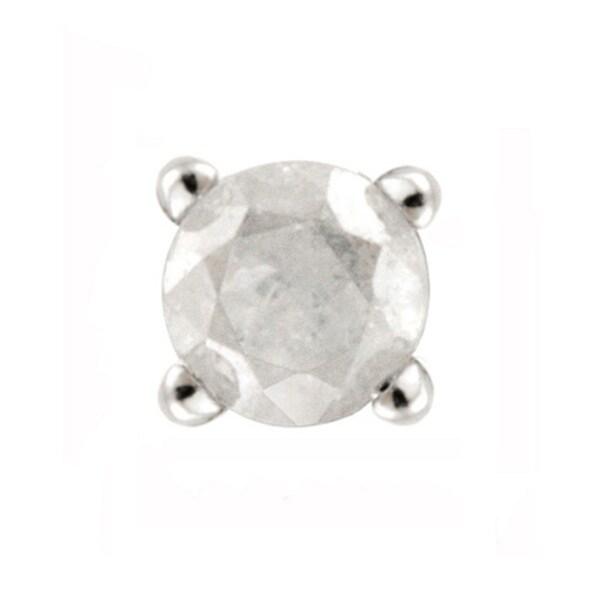 DB Designs Sterling Silver White Diamond Single Earrings 9253680