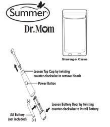 Summer Infant Dr. Mom Gentle Vibrations Toothbrush