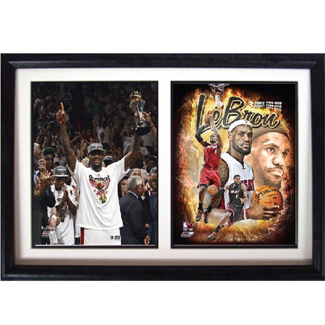 Miami Heat 2012 LeBron James Double Photo Frame