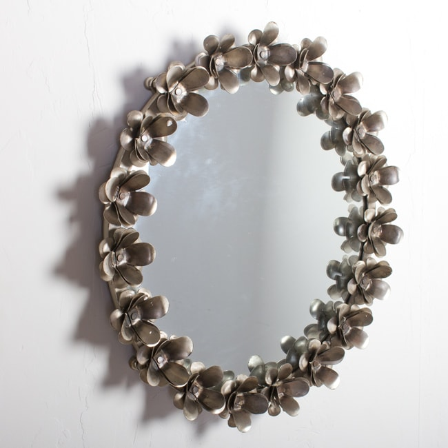 Iron Flower Nickel Mirror Frame (India)