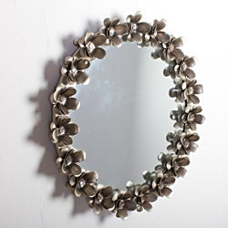 Iron Flower Nickel Mirror Frame (India)