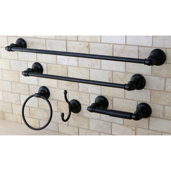 Oil rubbed bronze bathroom set 28 images vintage oil for Bathroom hardware sets