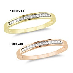 Miadora Bridal 10k Yellow Gold 1/8ct TDW Diamond Ring (H-I, I2-I3)