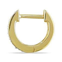 Miadora 14k Yellow Gold Diamond Accent Cuff Earrings