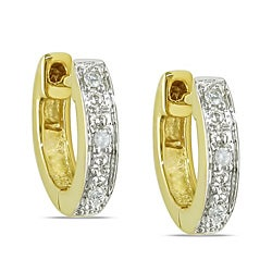 Miadora 14k Yellow Gold Diamond Accent Cuff Earrings