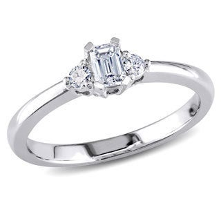 Miadora 14k Gold 1/3ct TDW Diamond 3-stone Engagement Ring (G-H, I1-I2)