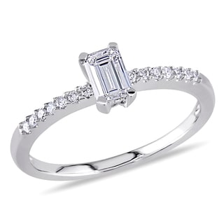 Miadora 14k White Gold 1/2ct TDW Diamond Ring (G-H, I1-I2)