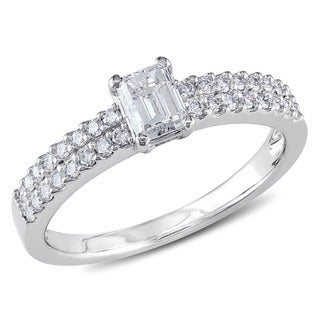 Miadora 14k White Gold 3/4ct TDW Diamond Engagement Ring (G-H, I1-I2)