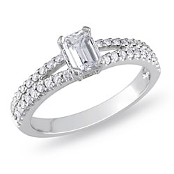 Miadora Platinum 1ct TDW Diamond Engagement Ring (G-H, I1-I2)