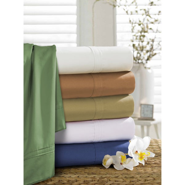 Egyptian Cotton Sateen 500 Thread Count Oversized Sheet Separates or Pillowcases Separates