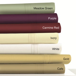 Egyptian Cotton Sateen 500 Thread Count Sheet and Pillowcases Separates