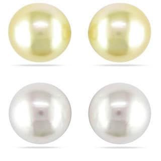 Miadora 14k Gold South Sea Pearl Stud Earrings (9-10 mm)