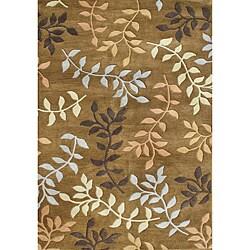 Alliyah Handmade Inca Gold New Zealand Blend Wool Rug (5' x 8')
