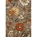 Alliyah Handmade Tufted Rust New Zealand Blend Wool Rug (8' x 10')