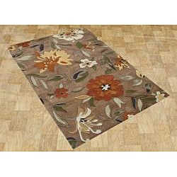 Alliyah Handmade Tufted Rust New Zealand Blend Wool Rug (5' x 8')