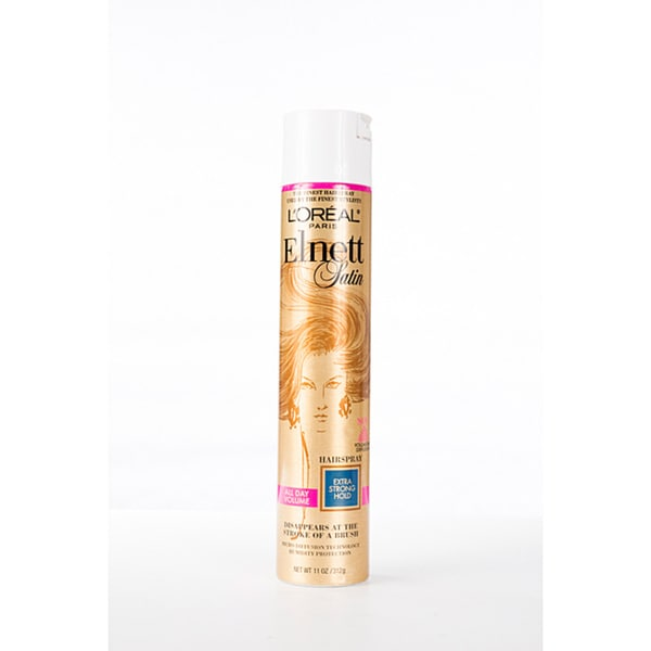 L'Oreal Elnett Satin 11-ounce Hairspray Extra Hold (Pack of 4)