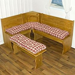 Nook Applegate Plaid Ruby Red 4-piece Cushion Set