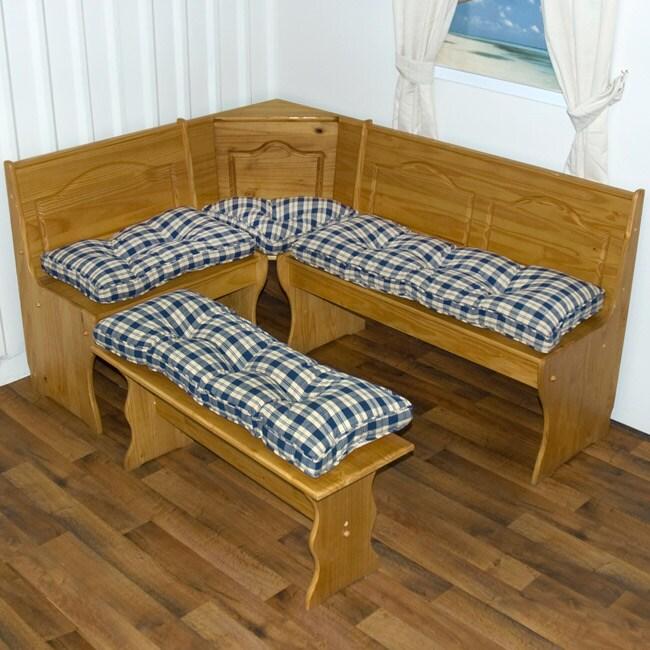 Nook Applegate Plaid Navy Blue 4-piece Cushion Set