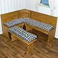 Nook Applegate Plaid Navy Blue 4-piece Cushion Set