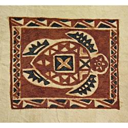 Sea Turtle Siapo Bark Cloth Art (Samoa)