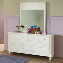 Macedonia White Dresser/ Mirror Set