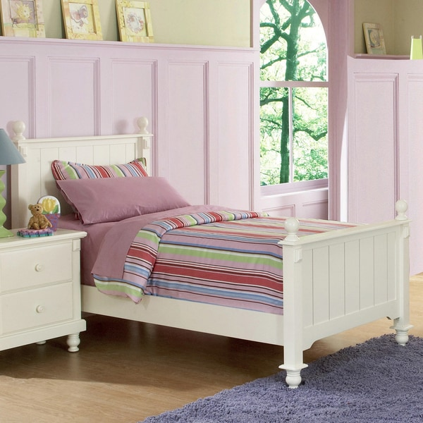 TRIBECCA HOME Macedonia White Twin Bed