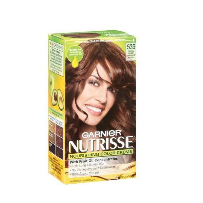 Garnier Nutrisse 535 Medium Golden Mahogany Brown Haircolor (Pack of 4 ...