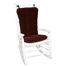 Merlot Ribbed Microfiber Jumbo Rocking Chair Cushion Set