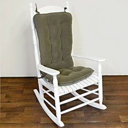 Sage Green Ribbed Microfiber Jumbo Rocking Chair Cushion Set