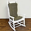Willow Green Ribbed Microfiber Jumbo Rocking Chair Cushion Set