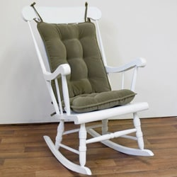Willow Green Green Ribbed Microfiber Standard Rocking Chair Cushion Set