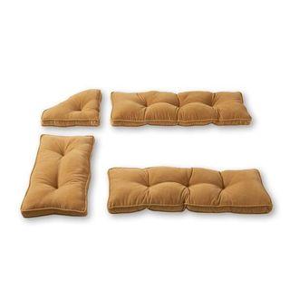 Nook Khaki Ribbed Microfiber 4-piece Cushion Set