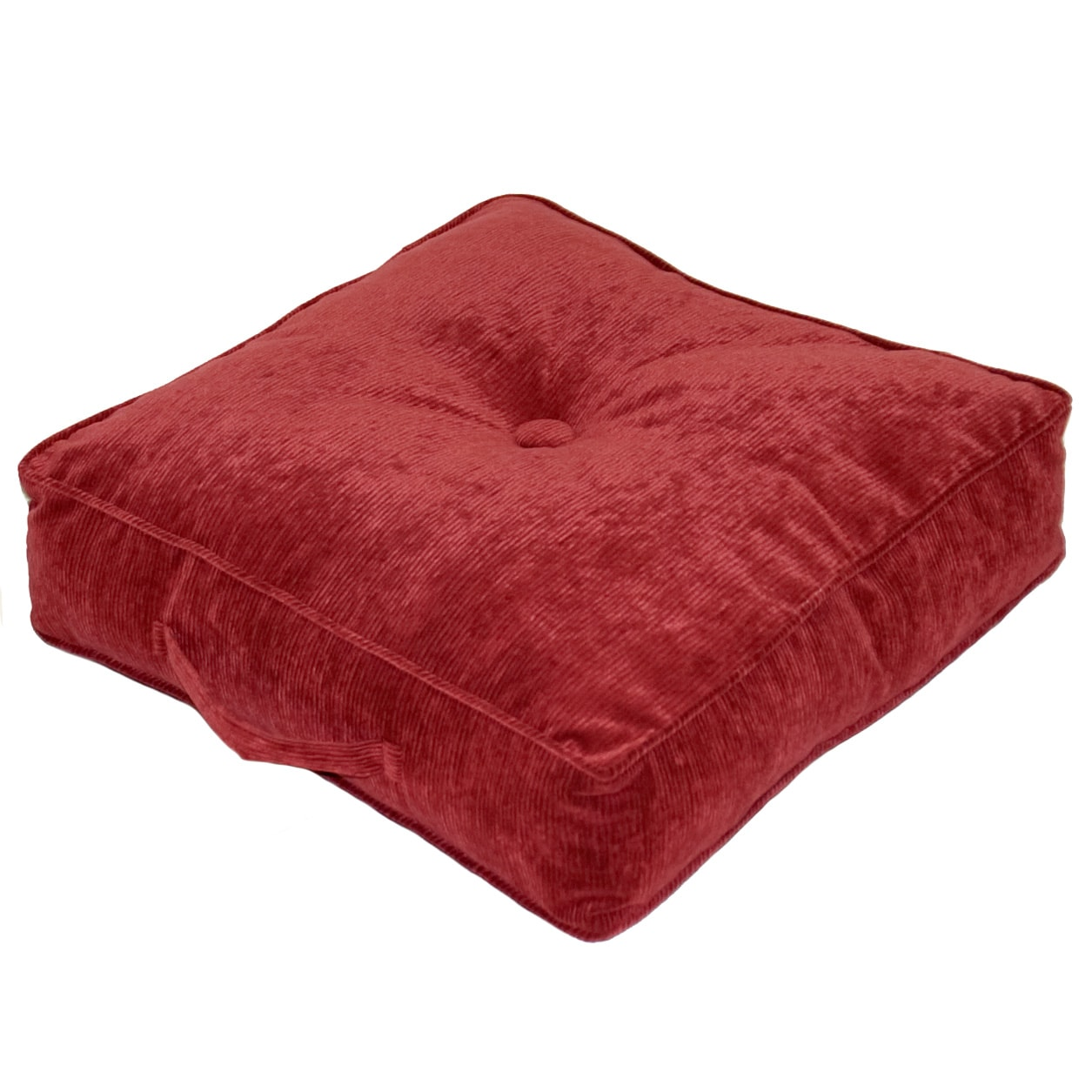 Ribbed Microfiber 20-inch Wine Square Floor Pillow