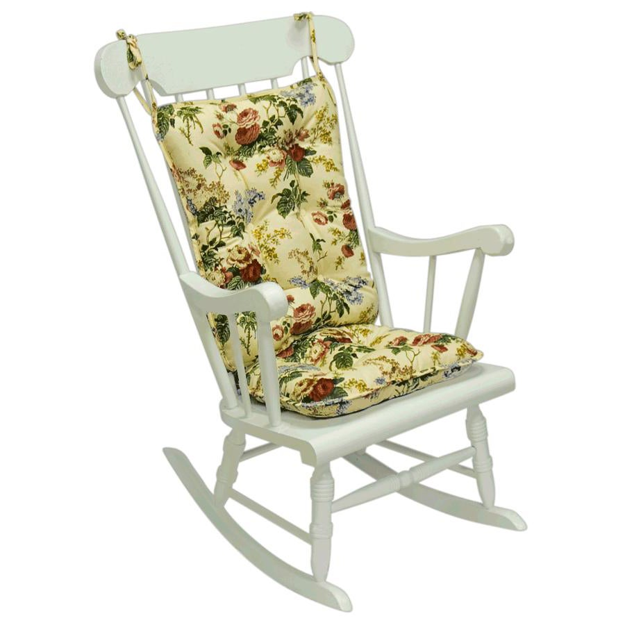 Jewel Floral Standard Rocking Chair Cushion