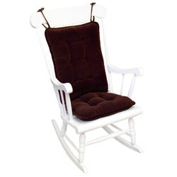 Wine Ribbed Microfiber Standard Rocking Chair Cushion Set