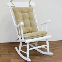 Tan Ribbed Microfiber Standard Rocking Chair Cushion Set