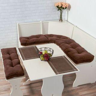 Greendale Home Fashions Chocolate Hyatt 4-pc. Nook Cushion Set